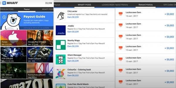 Заработок онлайн с приложением Whaff Rewards