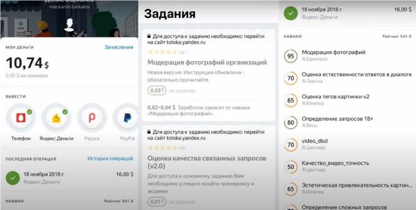 Сервис для заработка Яндекс Толока